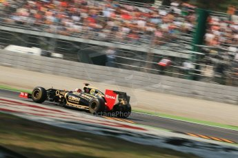 © 2012 Octane Photographic Ltd. Italian GP Monza - Friday 7th September 2012 - F1 Practice 1. Lotus E20 - Kimi Raikkonen. Digital Ref : 0505lw1d9307