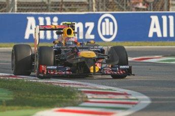 © 2012 Octane Photographic Ltd. Italian GP Monza - Friday 7th September 2012 - F1 Practice 1. Red Bull RB8 - Mark Webber. Digital Ref : 0505lw7d5367