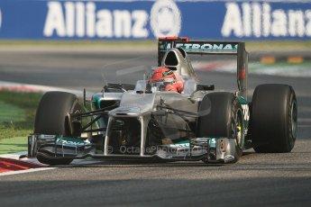 © 2012 Octane Photographic Ltd. Italian GP Monza - Friday 7th September 2012 - F1 Practice 1. Mercedes W03 - Michael Schumacher. Digital Ref : 0505lw7d5467