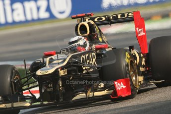 © 2012 Octane Photographic Ltd. Italian GP Monza - Friday 7th September 2012 - F1 Practice 1. Lotus E20 - Kimi Raikkonen. Digital Ref : 0505lw7d5578