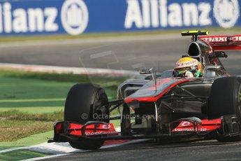 © 2012 Octane Photographic Ltd. Italian GP Monza - Friday 7th September 2012 - F1 Practice 1. McLaren MP4/27 - Lewis Hamilton. Digital Ref : 0505lw7d5625