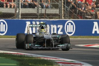 © 2012 Octane Photographic Ltd. Italian GP Monza - Friday 7th September 2012 - F1 Practice 1. Mercedes W03 - Nico Rosberg. Digital Ref : 0505lw7d5717