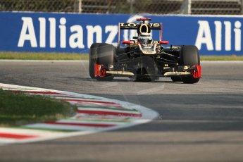 © 2012 Octane Photographic Ltd. Italian GP Monza - Friday 7th September 2012 - F1 Practice 1. Lotus E20 - Kimi Raikkonen. Digital Ref : 0505lw7d5991