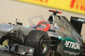 © 2012 Octane Photographic Ltd. Italian GP Monza - Friday 7th September 2012 - F1 Practice 1. Mercedes W03 - Michael Schumacher. Digital Ref : 0505lw7d6286