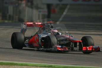 © 2012 Octane Photographic Ltd. Italian GP Monza - Saturday 8th September 2012 - F1 Practice 3. McLaren MP4/27 - Jenson Button. Digital Ref :
