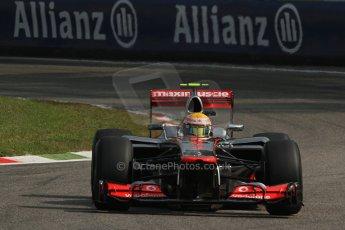© 2012 Octane Photographic Ltd. Italian GP Monza - Saturday 8th September 2012 - F1 Practice 3. McLaren MP4/27 - Lewis Hamilton. Digital Ref : 0512lw7d7561