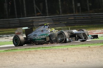 © 2012 Octane Photographic Ltd. Italian GP Monza - Saturday 8th September 2012 - F1 Practice 3. Mercedes W03 - Nico Rosberg. Digital Ref :