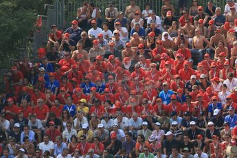 World © Octane Photographic Ltd. Formula 1 Italian GP, 9th September 2012. The Tiffosi - the World famous Ferrari fans at their home GP. Digital Ref : 0518lw1d0002