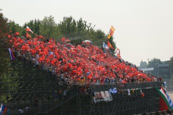 World © Octane Photographic Ltd. Formula 1 Italian GP, 9th September 2012. The Tiffosi - the World famous Ferrari fans at their home GP. Digital Ref : 0518lw1d9011