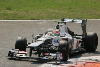 World © Octane Photographic Ltd. Formula 1 Italian GP, 9th September 2012. Sergio Perez - Sauber C31. Digital Ref : 0518lw1d9944