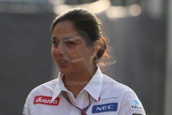 © 2012 Octane Photographic Ltd. Italian GP Monza - Saturday 8th September 2012 - F1 Paddock. Monisha Kaltenborn - Sauber CEO. Digital Ref :