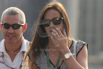 World © Octane Photographic Ltd. Formula 1 Italian GP, F1 Paddock. 9th September 2012. Laura Jordan (Girlfriend of Paul di Resta). Digital Ref : 0517lw7d8598