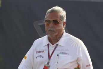World © Octane Photographic Ltd. Formula 1 Italian GP, F1 Paddock. 9th September 2012. Vijay Mallya - Sahara Force India. Digital Ref : 0517lw7d8770