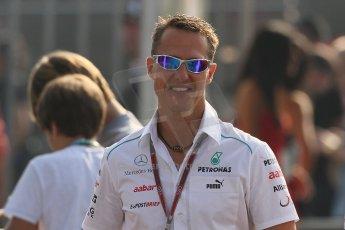 World © Octane Photographic Ltd. Formula 1 Italian GP, F1 Paddock. 9th September 2012 - Michael Schumacher - Mercedes AMG Petronas. Digital Ref : 0517lw7d8779