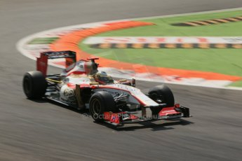 © 2012 Octane Photographic Ltd. Italian GP Monza - Friday 7th September 2012 - F1 Practice 2. HRT F112 - Pedro de La Rosa. Digital Ref :