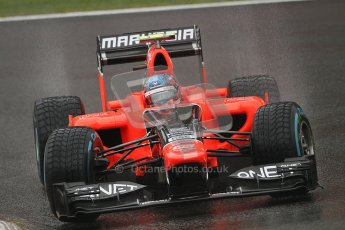 © 2012 Octane Photographic Ltd. Belgian GP Spa - Friday 31st August 2012 - F1 Practice 1. Marussia MR01 - Charles Pic. Digital Ref : 0481lw7d2637