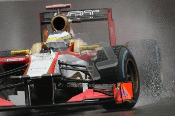 © 2012 Octane Photographic Ltd. Belgian GP Spa - Friday 31st August 2012 - F1 Practice 1. HRT F112 - Pedro de La Rosa. Digital Ref : 0481lw7d2842