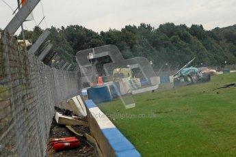 © Chris Enion/Octane Photographic Ltd 2012. FIA GT1 Championship, Donington Park, Sunday 30th September 2012. Nikolas Mayr-Melnhof crashes out at Hollywood on lap one in his Vita4One Racing Team BMW E89 Z4GT3. Digital Ref : 0534ce1d0159