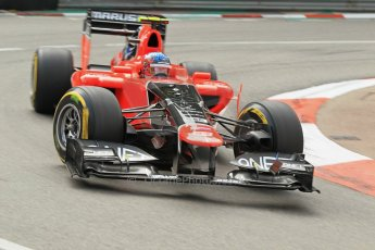 © Octane Photographic Ltd. 2012. F1 Monte Carlo - Practice 2. Thursday 24th May 2012. Charles Pic - Marussia. Digital Ref : 0352cb1d5824
