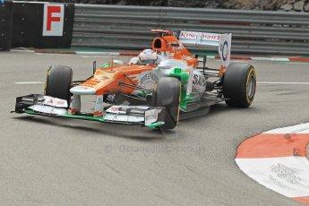 © Octane Photographic Ltd. 2012. F1 Monte Carlo - Practice 2. Thursday 24th May 2012. Paul di Resta - Force India. Digital Ref : 0352cb1d5848