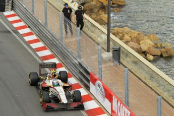 © Octane Photographic Ltd. 2012. F1 Monte Carlo - Practice 2. Thursday 24th May 2012. Narain Karthikeyan - HRT. Digital Ref : 0352cb1d5871