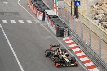 © Octane Photographic Ltd. 2012. F1 Monte Carlo - Practice 2. Thursday 24th May 2012. Romain Grosjean - Lotus. Digital Ref : 0352cb1d5895