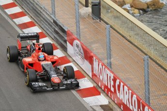 © Octane Photographic Ltd. 2012. F1 Monte Carlo - Practice 2. Thursday 24th May 2012. Timo Glock - Marussia. Digital Ref : 0352cb1d5933