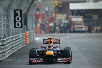 © Octane Photographic Ltd. 2012. F1 Monte Carlo - Practice 2. Thursday 24th May 2012. Mark Webber - Red Bull. Digital Ref :  0352cb1d6194