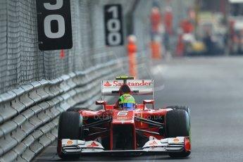 © Octane Photographic Ltd. 2012. F1 Monte Carlo - Practice 2. Thursday 24th May 2012. Felipe Massa - Ferrai. Digital Ref : 0352cb1d6236