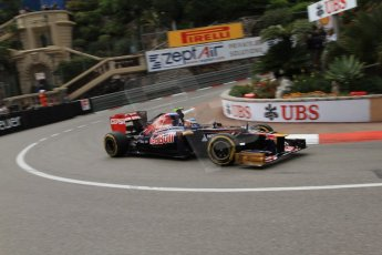 © Octane Photographic Ltd. 2012. F1 Monte Carlo - Practice 2. Thursday 24th May 2012. Jean-Eric Vergne - Toro Rosso. Digital Ref : 0352cb7d8045