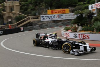 © Octane Photographic Ltd. 2012. F1 Monte Carlo - Practice 2. Thursday 24th May 2012. Bruno Senna - Williams. Digital Ref : 0352cb7d8069