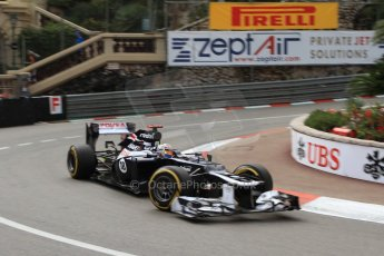 © Octane Photographic Ltd. 2012. F1 Monte Carlo - Practice 2. Thursday 24th May 2012. Pastor Maldonado - Williams. Digital Ref : 0352cb7d8132