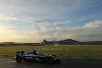 World © Octane Photographic Ltd. Formula Ford Sampler Day – Silverstone December 15th 2012. George Blundell - Fan Powered Racer. Digital Ref :