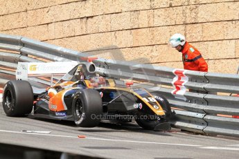 © Octane Photographic Ltd. 2012. Formula Renault 3.5 Monte Carlo - Race. Sunday 27th May 2012. Anton Nebylitskiy - Team RFR, in the wall. Digital Ref : 0359cb7d9613