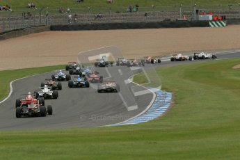 © Octane Photographic Ltd. 2012. Donington Park. Sunday 19th August 2012. Formula Renault BARC Race 2. The pack heads down the Craner curves. Digital Ref : 0463lw1d3319