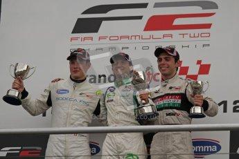 © Octane Photographic Ltd. 2012. FIA Formula 2 - Brands Hatch - Sunday 15th July 2012 - Race 2 Podium - Mihai Marinescu. Digital Ref : 0408lw7d0133