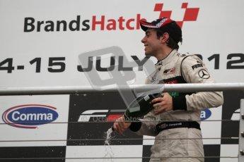 © Octane Photographic Ltd. 2012. FIA Formula 2 - Brands Hatch - Sunday 15th July 2012 - Race 2 - Dino Zamparelli. Digital Ref : 0408lw7d0187