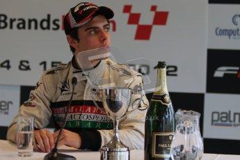 © Octane Photographic Ltd. 2012. FIA Formula 2 - Brands Hatch - Sunday 15th July 2012 - Race 2 - Dino Zamparelli. Digital Ref : 0408lw7d0292