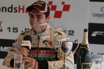© Octane Photographic Ltd. 2012. FIA Formula 2 - Brands Hatch - Sunday 15th July 2012 - Race 2 - Dino Zamparelli. Digital Ref : 0408lw7d0307