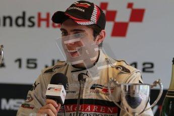 © Octane Photographic Ltd. 2012. FIA Formula 2 - Brands Hatch - Sunday 15th July 2012 - Race 2 - Dino Zamparelli. Digital Ref : 0408lw7d0316