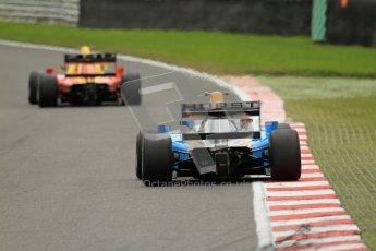 © Octane Photographic Ltd. 2012. FIA Formula 2 - Brands Hatch - Sunday 15th July 2012 - Race 2 - David Zhu and Hector Hurst. Digital Ref : 0408lw7d2468