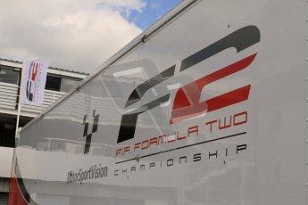 © 2012 Octane Photographic Ltd. Friday 13th April. Formula Two - Practice 2. Formula 2 (FIA F2) Logo. Digital Ref : 0290lw7d2276
