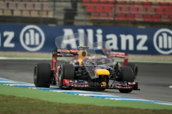 © 2012 Octane Photographic Ltd. German GP Hockenheim - Friday 20th July 2012 - F1 Practice 1. Red Bull RB8 - Mark Webber. Digital Ref : 0410lw1d4305