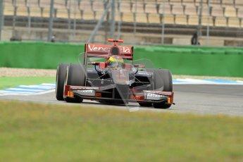 © 2012 Octane Photographic Ltd. German GP Hockenheim - Friday 20th July 2012 - GP2 Practice 1 - Venezuela GP Lazarus - Fabrizio Crestani. Digital Ref : 0412lw7d4502