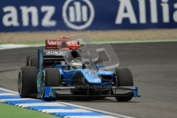© 2012 Octane Photographic Ltd. German GP Hockenheim - Friday 20th July 2012 - GP2 Practice 1 - Ocean Racing Technology - Victor Guerin followed by the  Venezuela GP Lazarus of Sergio Canamasas. Digital Ref : 0412lw7d4687