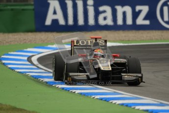 © 2012 Octane Photographic Ltd. German GP Hockenheim - Friday 20th July 2012 - GP2 Practice 1 - Lotus GP - James Calado. Digital Ref : 0412lw7d4699