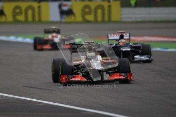 © 2012 Octane Photographic Ltd. German GP Hockenheim - Saturday 21st July 2012 - F1 Qualifying session 1. HRT F112 - Pedro de La Rosa. Digital Ref : 0417lw1d3019