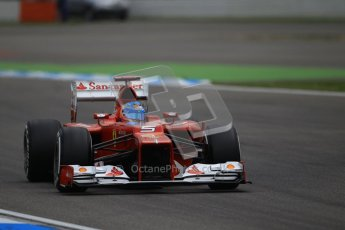 © 2012 Octane Photographic Ltd. German GP Hockenheim - Saturday 21st July 2012 - F1 Qualifying session 1. Ferrari F2012 - Fernando Alonso. Digital Ref : 0417lw1d3061