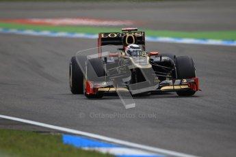 © 2012 Octane Photographic Ltd. German GP Hockenheim - Saturday 21st July 2012 - F1 Qualifying session 1. Lotus E20 - Kimi Raikkonen. Digital Ref : 0417lw1d3070