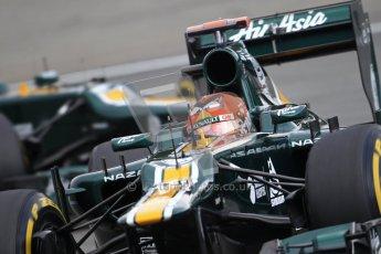 © 2012 Octane Photographic Ltd. German GP Hockenheim - Saturday 21st July 2012 - F1 Qualifying. Caterham CT01 - Heikki Kovalainen followed by Vitaly Petrov. Digital Ref : 0417lw1d3552